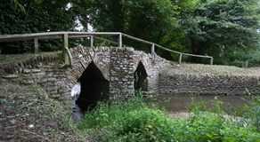 Medieval Pack Horse Bridge a short walk from Belview Cottage Dorset